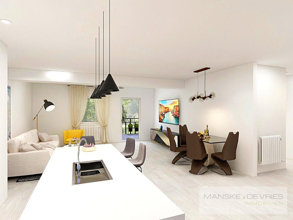 Küche/Wohnzimmer Renovierungsbeispiel